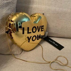 MARC JACOBS The Balloon Minaudiere Heart Clutch